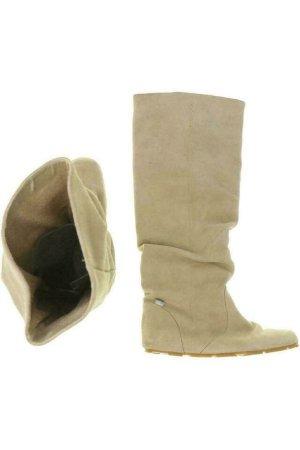 Lacoste Stiefel Damen Boots Gr. DE 39 Leder beige