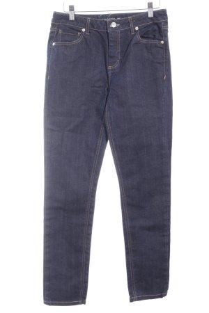Lacoste Straight-Leg Jeans dunkelblau Logo-Applikation aus Leder