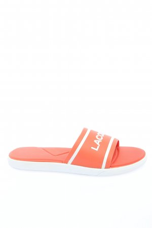 Lacoste Beach Sandals light orange-white printed lettering casual look
