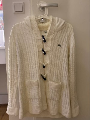 Lacoste Knitted Coat white
