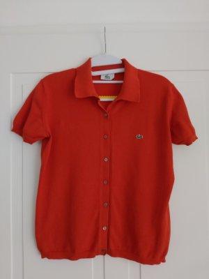 Lacoste Camisa tejida naranja-rojo claro Algodón
