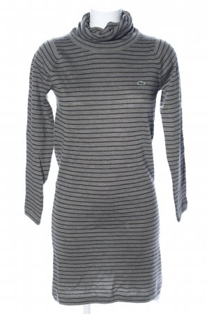 Lacoste Knitted Dress light grey-black striped pattern casual look
