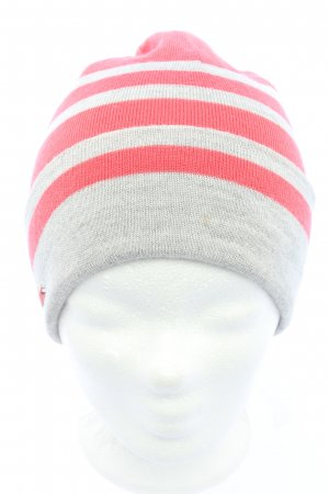Lacoste Knitted Hat light grey-red striped pattern casual look