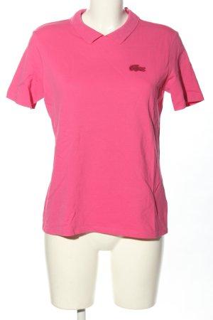 Lacoste T-shirt rosa stile casual