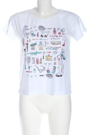 Lacoste T-Shirt Motivdruck Casual-Look