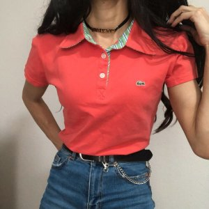 Lacoste T-Shirt Korallrotes Poloshirt Hemd | 40 fällt 32/XXS aus