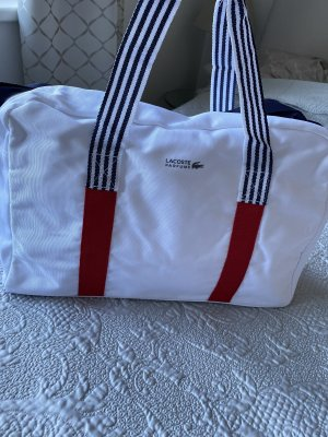 Lacoste Tasche Weekender Sporttasche Reisetasche weiß