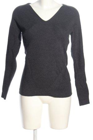 Lacoste V-Ausschnitt-Pullover hellgrau meliert Casual-Look