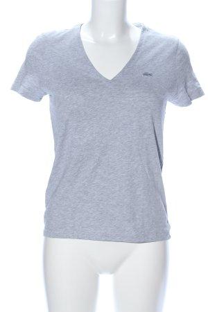 Lacoste V-Neck Shirt light grey flecked casual look
