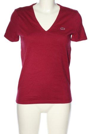 Lacoste V-Ausschnitt-Shirt rot Casual-Look