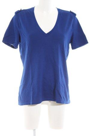 Lacoste V-Ausschnitt-Shirt blau Casual-Look