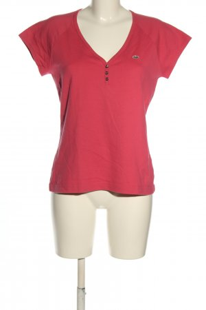 Lacoste V-Neck Shirt red casual look