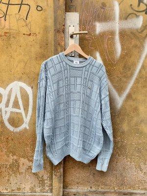 Lacoste Długi sweter błękitny Bawełna