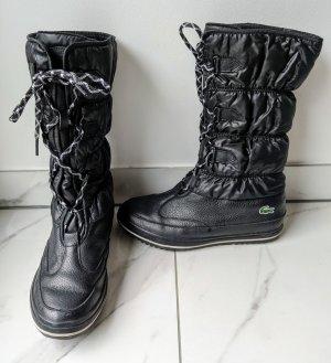 Lacoste Aanrijg laarzen zwart-wit