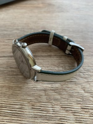 Lacoste Watch With Leather Strap silver-colored