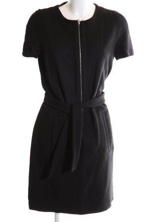 Lacoste Robe en laine noir style d'affaires