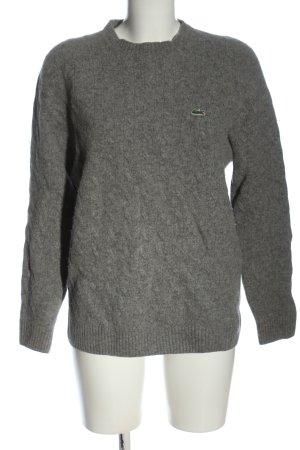Lacoste Wool Sweater light grey flecked casual look
