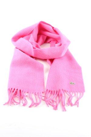 Lacoste Wollschal pink Business-Look