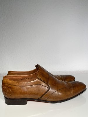 Ladage & Oelke Oxfords cognac-coloured leather