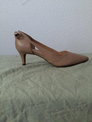 Ladies' beige pumps
