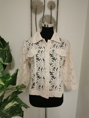 Ladies Woodpecker Collection Damen Spitzenjacke Jacke Häkelspitze creme Größe 42