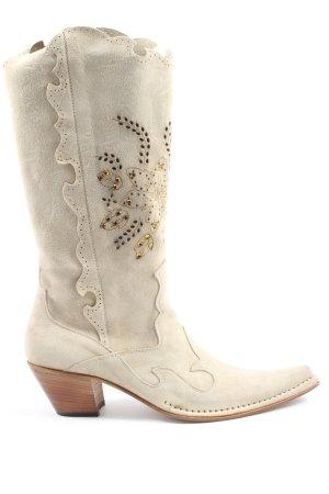 Lady Doc Buty w stylu western w kolorze białej wełny W stylu casual