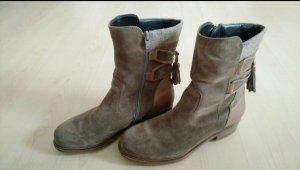 Winter Boots grey brown-light brown