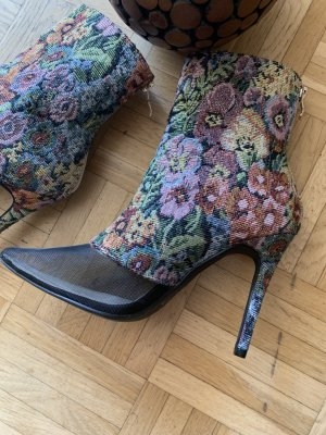 Lady Flower Heels - Sommer Stiefeletten - Black/Colour - Größe 37