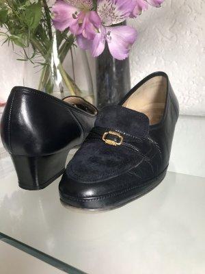 Luftpolster Loafer blu scuro-crema Pelle