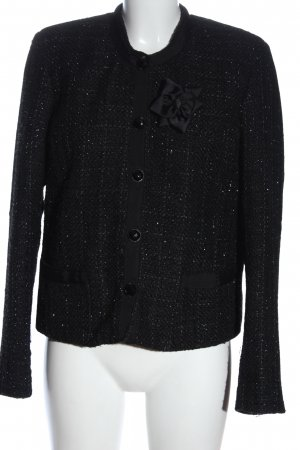 Lady in Paris Blazer Tweed negro estampado repetido sobre toda la superficie