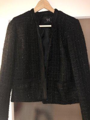 Blazer en tweed noir polyester