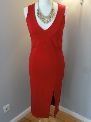 °°°Lady in red, Rotes Abendkleid, neu, Beinschlitz & V-Ausschnitt°°°
