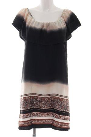 Lady Lol schulterfreies Kleid abstraktes Muster Casual-Look