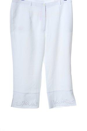 Lady's Collection Pantalon 3/4 blanc style décontracté