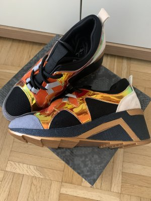 Lady Schnür High-Sneakers - Absatz - Black/Orange - Größe 36