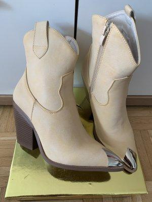 Lady Stiefeletten/Boots - High-Heel - Größe 36 - Beige - WesternLook