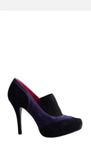 Daniela Katzenberger High-Front Pumps black-lilac
