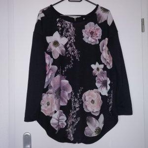 Länger Pullover mit Blumenprint