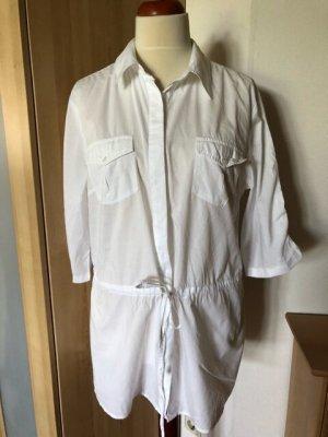 Gina Benotti Short Sleeved Blouse white cotton
