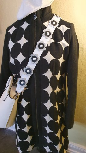 Desigual Short Coat white-black