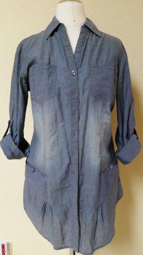 längere jeansblaue Bluse - letzte Reduzierung!!