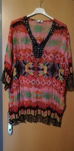 Ulla Popken Tunique-blouse multicolore polyester