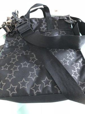 LÄSSIG Tasche mit Sternen, Schwarz