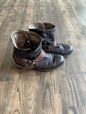 Air Step Stivaletto nero-marrone Pelle