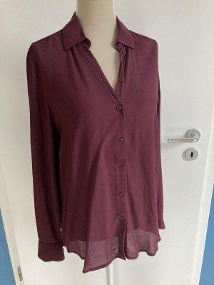 Seidensticker Blusa de manga larga rojo zarzamora-violeta amarronado Viscosa