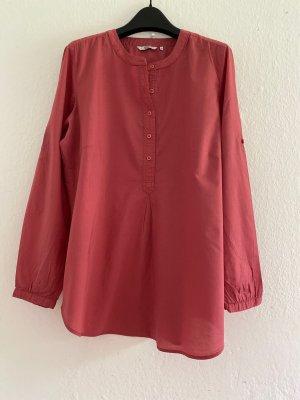 Anne L. Camicetta a maniche lunghe rosa-rosso lampone Cotone