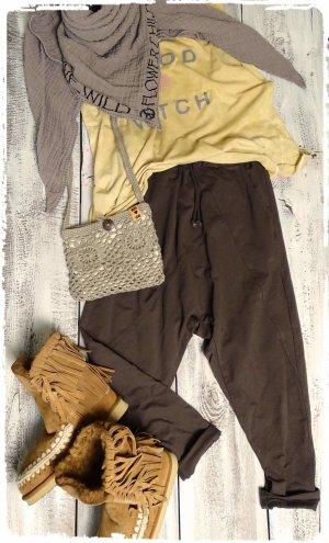 Pantalón boyfriend marrón Algodón