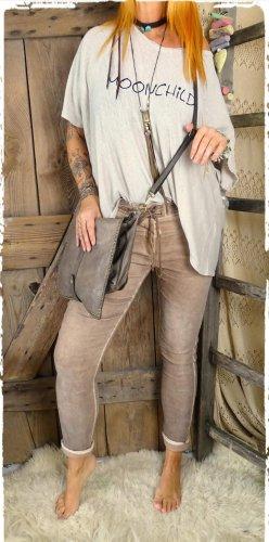 Pantalón boyfriend marrón claro-beige