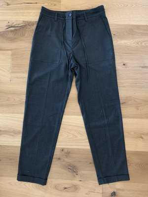 Opus Pleated Trousers anthracite polyester