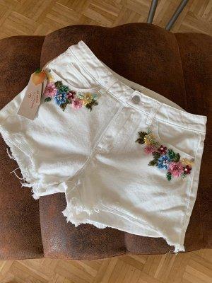 Made in Italy Pantaloncino di jeans multicolore Cotone